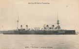 """( CPA BATEAUX DE GUERRE )  LE """" CONDÉ """"  Croiseur Cuirassé  /  Marine Militaire Française - - Warships"""