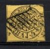 STATO PONTIFICIO 1852 4 BAJ GIALLO  N° 5A FIRMATO  (r. 6653) - Stato Pontificio