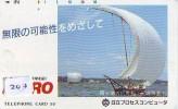 Télécarte Japon * BATEAU VOILIER * Sailing SHIP (203) Phonecard Japan * SCHIFF * Segelschiff * Zeilboot * YACHT - Barche
