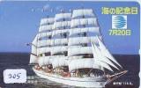 Télécarte Japon * BATEAU VOILIER * Sailing SHIP (205) Phonecard Japan * SCHIFF * Segelschiff * Zeilboot * YACHT - Barche