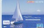 Télécarte Japon * BATEAU VOILIER * Sailing SHIP (208) Phonecard Japan * SCHIFF * Segelschiff * Zeilboot * YACHT - Boten