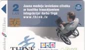 LATVIA - Project THINK, Tirage 35000, Exp.date 09/04, Used - Latvia