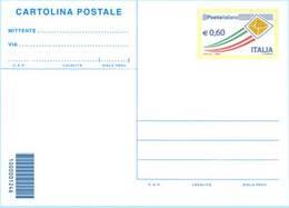 """REPUBBLICA ITALIANA / INTERO POSTALE / CARTOLINA """"POSTA ITALIANA"""" 2009 EURO 0,60 - FILAGRANO C263 – NUOVO ** - Ganzsachen"""