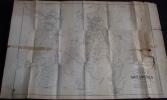 Rare Plan POPP De La Commune De HANTES WIHERIES Avec Liste Du Parcellaire Et Pochette - Cartes Topographiques
