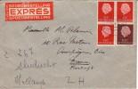 PAYS-BAS : Lettre Par Exprès Pour La France - 1954 - 1949-1980 (Juliana)
