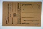 Deutschland: Feldpostkarte 1ste Welkrieg - Briefe U. Dokumente