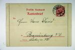 Deutschland : Kartenbrief 1899 Nauen -> Brandenburg Havel, Ohne Ruckseitige Bemerkung