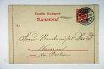 Deutschland : Kartenbrief 1897 Karlsruhe -> Nauen  Mit Ruckseitige Bemerkung K1