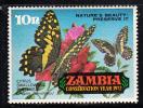 Zambia MNH Scott #87 10n Citrus Swallowtail Butterfly - Conservation Year - Zambie (1965-...)