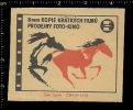 Poster Stamp - Czech Matchbox Label - Recorder, Camera, Film, Recording, Movie, Cinema, Pferd, Horse - Boites D'allumettes - Etiquettes