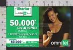 S2412 Ricarica OMNITEL MEGAN GALE Lire 50000 Scad. 2004.12 - Italia