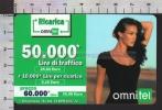 S2417 Ricarica OMNITEL MEGAN GALE Lire 50000 Scad. 2004.12 Numeri Piccoli - Italia