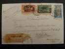LETTRE PAR AVION RECOMMANDEE FORT LAMY TCHAD 1928 ADRESSEE AU CONGO  COVER