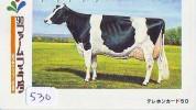 Télécarte JAPON * VACHE (530) COW * KOE * BULL * PHONECARD JAPAN * TELEFONKARTE * VACA * TAURUS * - Koeien