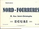Buvard Nord Fourrures Douai Fur - Buvards, Protège-cahiers Illustrés