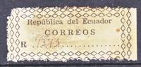 Ecuador Registration Label  (o) - Ecuador