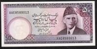 PAKISTAN  P40 50 RUPEES 1985 2 Usual Pin Holes / Urdu Text Line B    UNC. - Pakistan