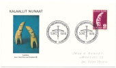 Greenland FDC 6 Kroner TUPILAK 5-10-1978 With Cachet And Sent To Denmark - Groenlandia