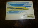 CARTE MAXIMUM  Avec Timbre(s) Cachet 1er Jour  1981   RAME POSTALE  TGV - Briefmarken