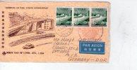 Japon-1964-voie Express De Tokyo-Pont-Lettre  FDC Envoyée Vers Lepzig-DDR - Bridges