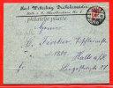 ALLEMAGNE MOITIE DE TIMBRE SUR LETTRE DE 1893 DE HALLE - Deutschland