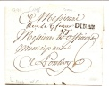 """MARQUE POSTALE """"DINAN"""" 20MM 1790. CHEVALIER N° 7 - Marcophilie (Lettres)"""