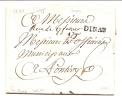 "MARQUE POSTALE ""DINAN"" 20MM 1790. CHEVALIER N° 7 - 1701-1800: Précurseurs XVIII"