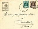 180/19 -  Lettre Illustrée Petit Séminaire De BASTOGNE TP Houyoux 1923 Vers BOUCHOLZ Luxembourg - 1922-1927 Houyoux