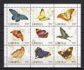 Liberia 1996 Butterflies Sheetlet MNH - Farfalle