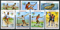 Kampuchea #378-84 Mint Never Hinged LA Olympics Set From 1983 - Kampuchea