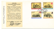 Greece FDC 15-5-1978 150th Anniversary Hellas Post Complete Set With Nice Cachet - FDC