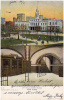 AK NEW YORK  CITY HALL & SUBWAY STATION   Mit Silber-Perlen  OLD POSTCARD VOR 1904 - Unclassified