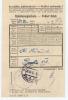 Böhmen + Mähren: Post(spaarkasse) Einlieferungsschein   1943