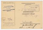 Böhmen + Mähren: Postkarte Bezirksamt 1943