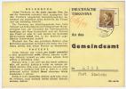 Böhmen + Mähren: Postkarte Tiskovina / Gemeindeamt, 1944