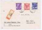 Böhmen + Mähren: Registered Cover 1943, Prag