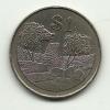 1993 - Zimbabwe 1 Dollar, - Zimbabwe