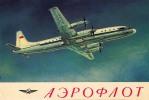 AVIATION CIVILE : ENV. 1970 - QUADRIMOTEUR à HÉLICES ILYUSHIN - IL 18 En VOL - AEROFLOT - U.S.S.R. (k-781) - 1946-....: Moderne