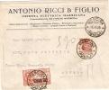 REGNO - BUSTA ESPRESSO CON INTESTAZIONE COMMERCIALE ANTONIO RICCI & FIGLIO IMPRESA ELETTRICA MARSICANA PESCINA (AQUILA) - 1900-44 Victor Emmanuel III