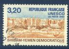 France - Service 103 Oblitéré - Patrimoine Mondial: Le Shibâm-Yemen Democratique - Officials