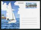 Aland 1990 Tourism Sailing Boats Stationary Card - Mint - Aland