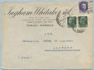 1931 MARSALA INGHAM WHITAKER VINI ITALIANI BUSTA PUBBLICITARIA INTESTATA CON IMPERIALE L.25x2 + 50 OTTIMA QUALITÀ(DC4103 - 1900-44 Vittorio Emanuele III