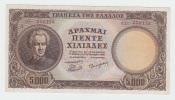 GREECE 5000 DRACHMA 1950 VF++ P 184 - Grèce