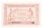 FRANCE 1 FRANC TRESORERIE AUX ARMEES 1917 VF+ P M2 - Treasury