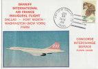 CONCORDE  AIR FRANCE DALLAS-PARIS  1979  CACHET D'ARRIVEE - Concorde