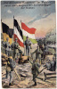 AK RUSSLAND MILITARIA EIN DREIFACHES KAISERHOCH DER VERB�NDETEN NACH SIEGREICHEM ZUR�CKDR�NGEN DER RUSSEN  POSTCARD 1917