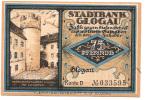 Noodgeld - Notgeld  STADT GLOGAU   75 Pfg - Billets