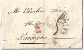 SPAIN 1850 Letter BARCELONA To FRANCE - ...-1850 Vorphilatelie
