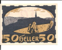 Noodgeld - Notgeld  STADT ULRICHSBERG 50 Heller  1920 - Billets
