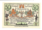 Noodgeld - Notgeld  STADT REHBURG  50 Pfg 1921 (Nr. 4) - Billets